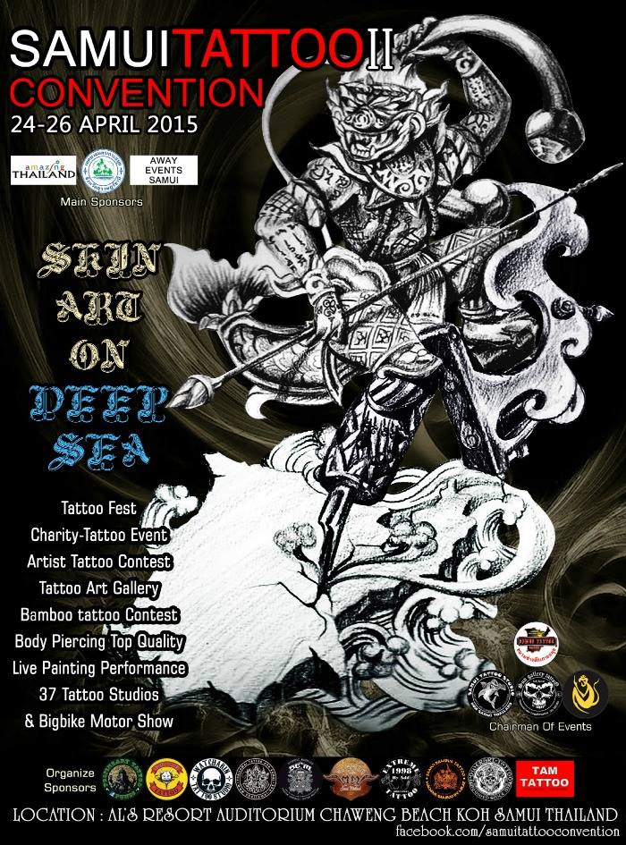 2nd Samui Tattoo Convention From 24 26 April 2015 Thailand
