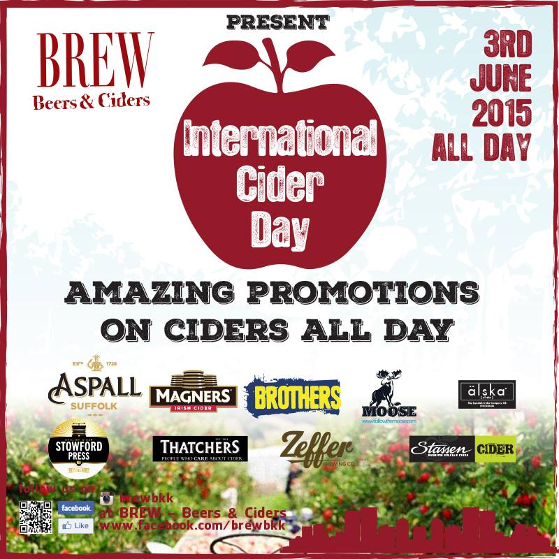 International Cider Day on 3 June 2015 at Brew Beers & Ciders in Bangkok