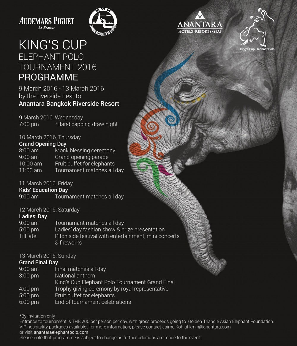 King's Cup Elephant Polo in Bangkok 2016
