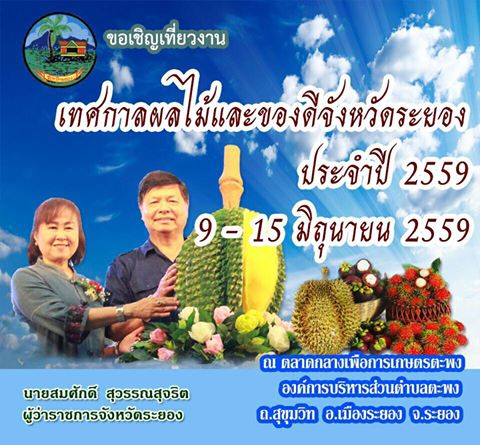 Rayong Fruit Festival from 9-15 June 2016